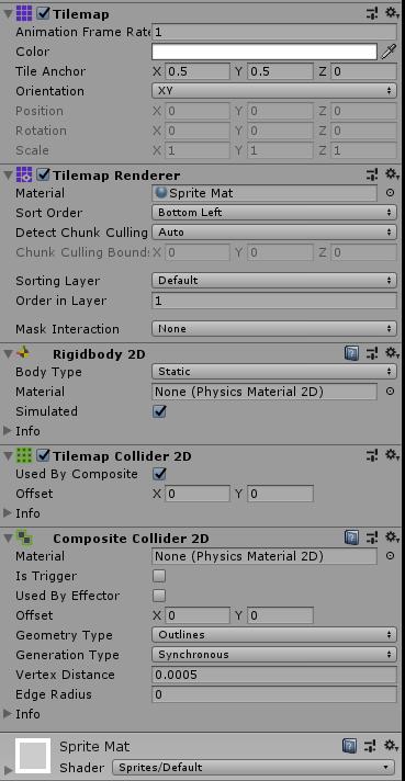 Tilemap Collider 2D w/ Composite Collider Not Working - Feature