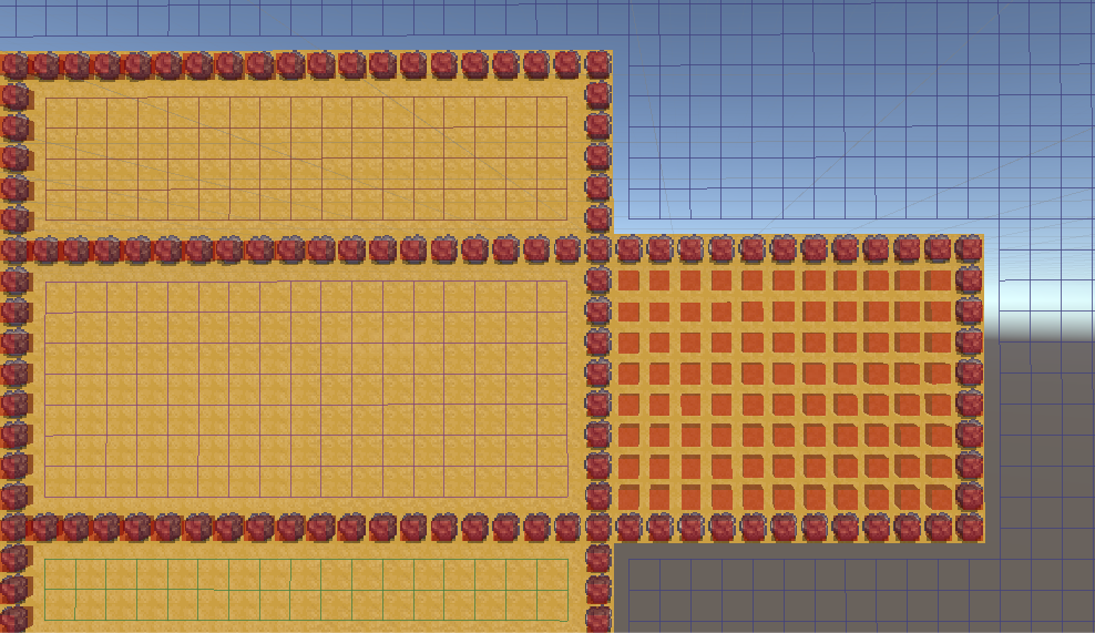 Some multiple areas in 1 Grid Graph working others blocked